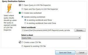 QueryDestinationOption - Wonderware InTouch Reports